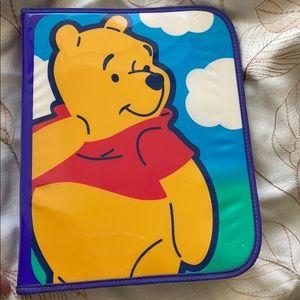 Vintage Winnie the Pooh 3 ring binder